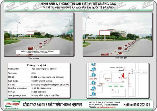 Pano trụ tại ngã 3 đường ra - vào sân bay Đà Nẵng  Pano tru tai nga 3 duong ra - vao san bay Da Nang