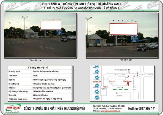 Pano tại ngã 3 - gần nhà gửi xe sân bay Đà Nẵng  Pano tai nga 3 - gan nha gui xe san bay Da Nang
