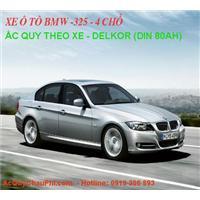 ẮC QUY DELKOR 12V/80AH - DIN 58039 - Chuyên Dùng KĐ Xe BMW 325 - Và MERCEDES - Ô Tô 4 Chỗ