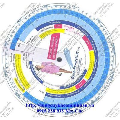 Vòng tính tuổi thai và tính ngày dự sinh  Vong tinh tuoi thai va tinh ngay du sinh
