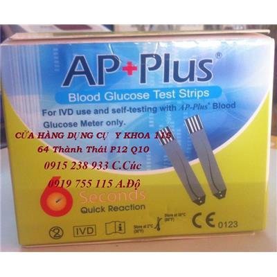 QUE THỬ ĐƯỜNG HUYẾT AP Plus