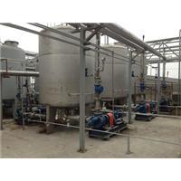 thi công đường ống sử lý nước thải lên máy ép bùn