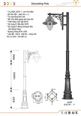 Trụ đèn công viên AQP 0379 - 1