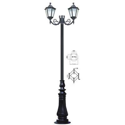 Trụ đèn gang công viên - 1006A /2