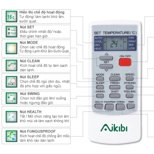 Remote máy lạnh AIKIBI