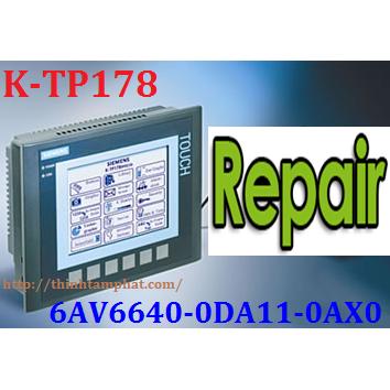 Sửa chữa HMI K-TP178 6AV6640-0DA11-0AX0 Siemens