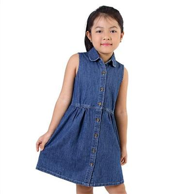 Đầm Jean bé gái 243