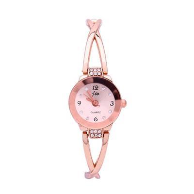Đồng hồ JW nữ lắc tay V ngọc tròn GE043