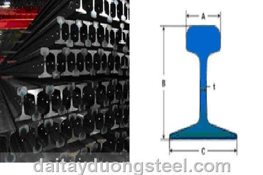Thép ray (RAIL) tầu P11-P15- P18-P22-P24-P30-P38...QU120