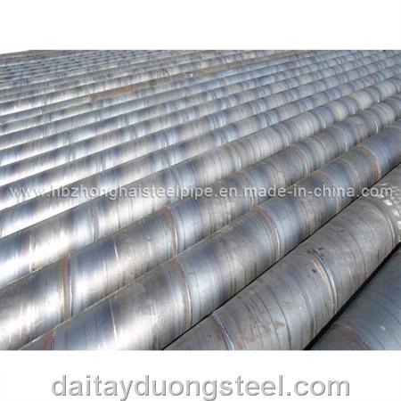 Ống thép hàn xoắn nhập khẩu - Spiral welded steel pipe imports