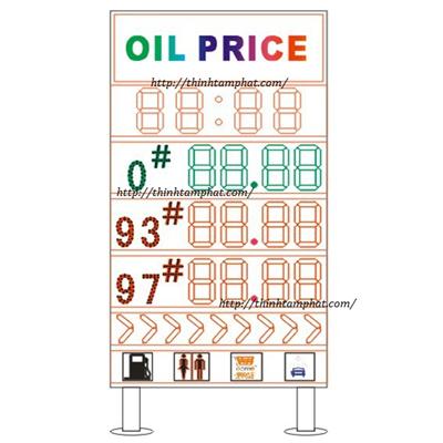 Bảng led xăng dầu – Bảng led tại cây xăng dầu