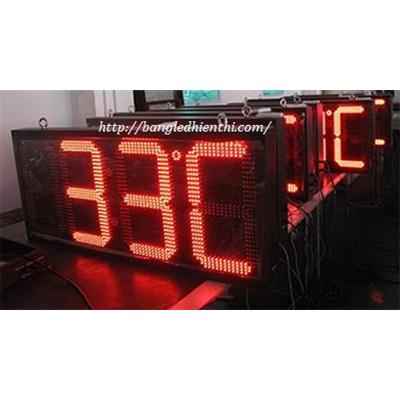 Bảng led điện tử hiển thị nhiệt độ 10inch màu đỏ