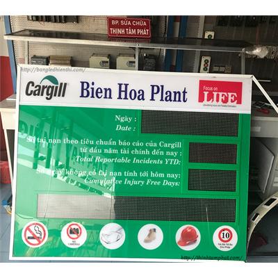 Bảng led hiển thị thông tin ngoài trời lắp đặt tại công ty Cargill VN