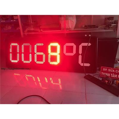 Bảng led hiển thị nhiệt độ 12 inch màu đỏ