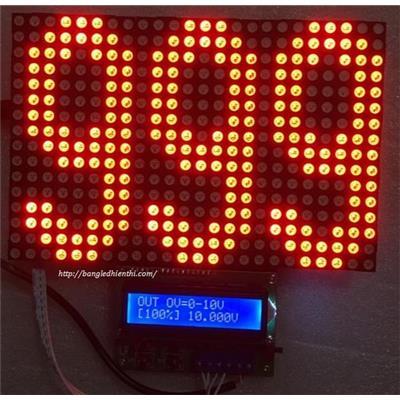 BỘ HIỂN THỊ ANALOG 0-10VDC / 4-20mA VỚI BẢNG LED HIỂN THỊ