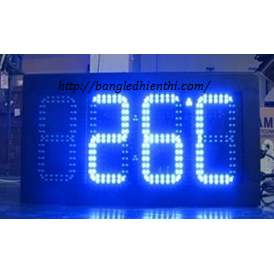 Bảng led điện tử hiển thị nhiệt độ bằng led 7 đoạn màu xanh dương