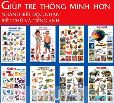 Bộ poster Anh Việt cho trẻ