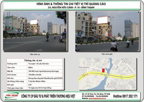 21L Nguyễn Hữu Cảnh - Q. Bình Thạnh - Bảng quảng cáo cho thuê