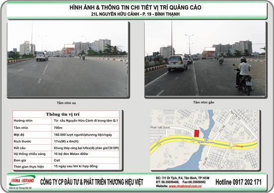 quảng cáo Pano tại 21L Nguyễn Hữu Cảnh - Q. Bình Thạnh hướng về Q.1