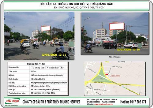 Sân bay Tân Sơn Nhất (Số 1 Phổ Quang) - bảng quảng cáo Vina Brand