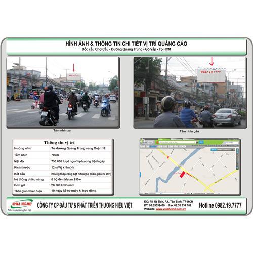 Pano ốp tường Cầu Chợ Cầu - đường Quang Trung - Quận Gò Vấp