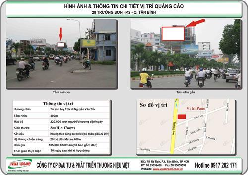 cty quang cao Thuong Hieu Viet cho thue Pano đường Trường Sơn - Sân Bay Tân Sơn Nhất - Tp HCM