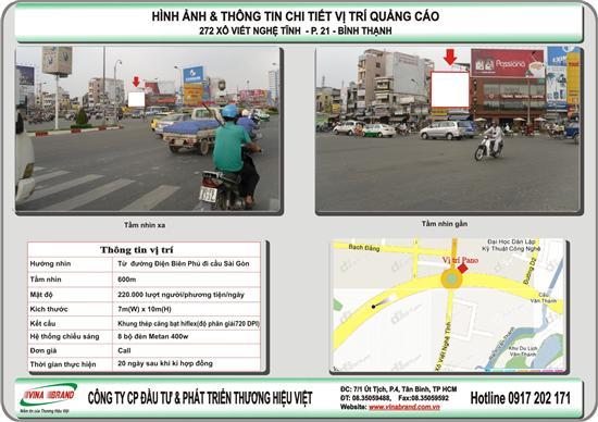 Bảng quảng cáo tại vòng xoay hàng Xanh - VINA BRAND