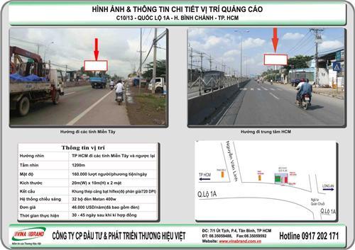 Pano tấm lớn quốc lộ 1A - Bình Chánh - Cửa ngõ TP HCM  Pano tam lon quoc lo 1A - Binh Chanh - Cua ngo TP HCM