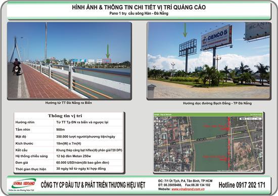 Thuong Hieu Viet cho thue bảng quảng cáo bên bờ sông Hàn - Tp Đà Nẵng