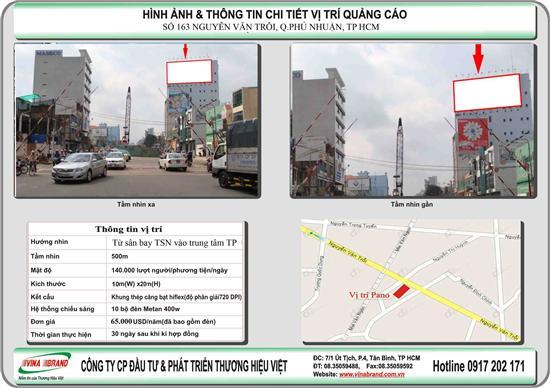 cty quang cao Thuong Hieu Viet cho thue PANO ĐƯỜNG NGUYỄN VĂN TRỖI - PHÚ NHUẬN - TP HCM