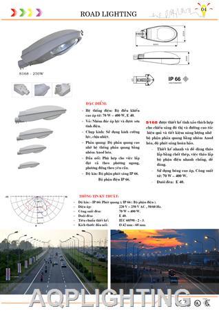 Đèn đường S168 - 250w  Den duong S168 - 250w