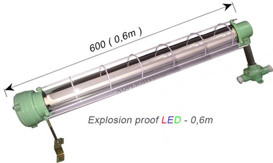 Đèn chống nổ 0,6m - Đơn
