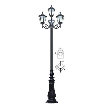 Trụ đèn gang 4 bóng cao 3,8m