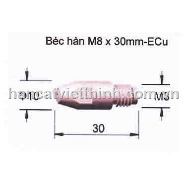 Béc hàn M8*30
