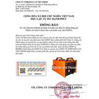 Thông báo áp dụng tem phủ cào điện tử chống giả trên máy hàn EDON