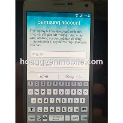 xoá tài khoản Samsung Account