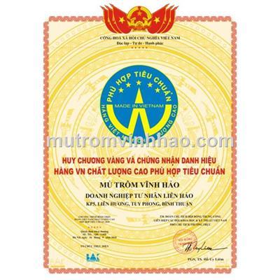Sản phẩm của DNTN Liên Hảo đạt huy chương vàng hàng Việt Nam chất lượng cao