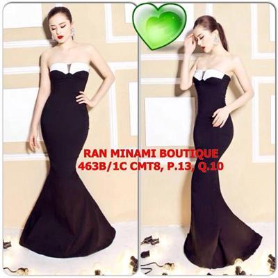 MS087_Đầm dạ hội đen form siêu chuẩn