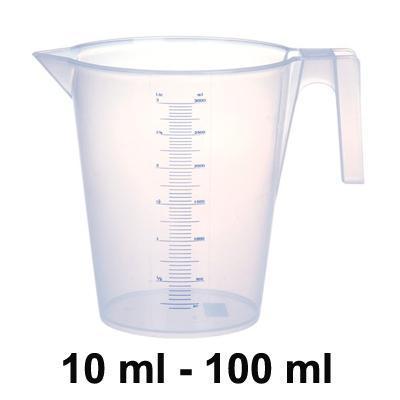 Ly Đong Nhựa 10 ml - 100 ml