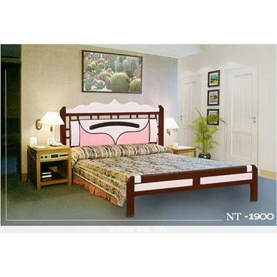Giường sắt giả gỗ NT1900