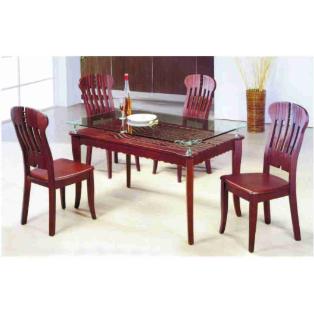 Bộ bàn ăn bằng gỗ TREN0