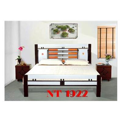 Giường sắt giả gỗ NT1922