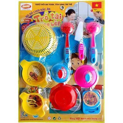 Đồ chơi trẻ em an toàn trổ tài làm bếp
