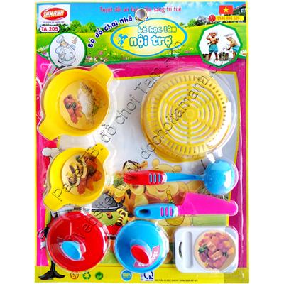 Đồ chơi trẻ em an toàn bé học làm nội trợ