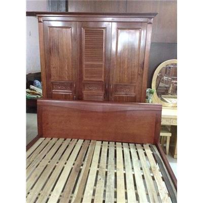 Giường gỗ tự nhiên VN-G018  Giuong go tu nhien VN-G018