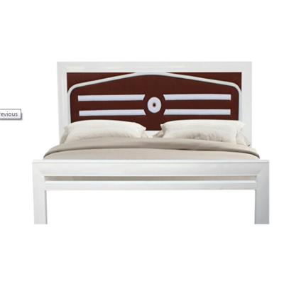 Giường sắt giả gỗ kiểu mới NT2018