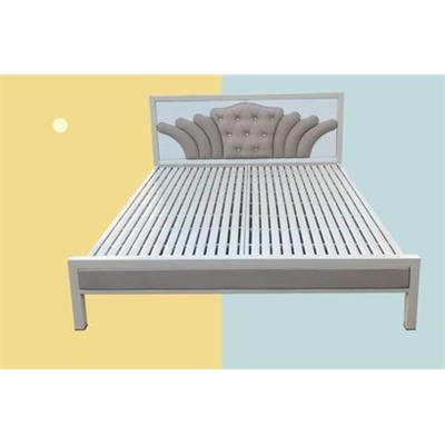 Giường sắt giả gỗ NT2021-2
