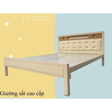 Giường sắt giả gỗ NT2021-3