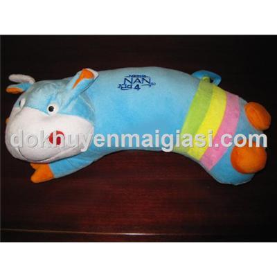Gối ôm Nestle hà mã mềm mại cho bé 0 - 1 tuổi (Dài 35cm)