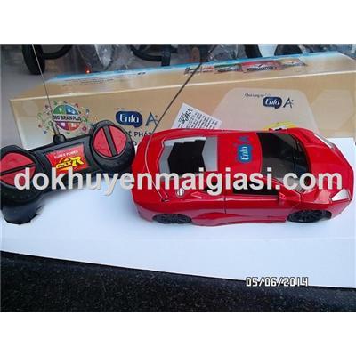 Màu đỏ: Xe điều khiển Enfa kiểu dáng Lamborghini - Tặng kèm 6 viên pin